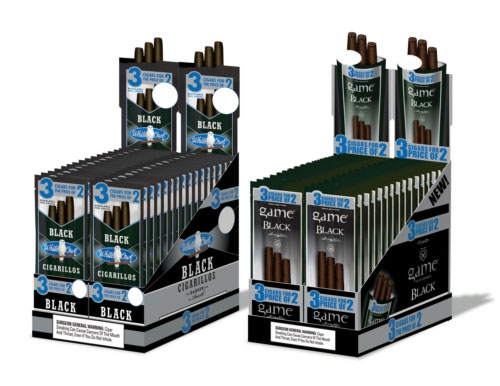 Cigariller: White Owl Black och Game Black