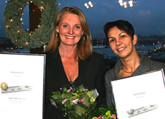 Webranking Awards 2008: Annette Kaunitz, Director Internal and Corporate Relations, och Djuli Holmgren, Project Manager Web.