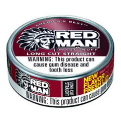 Red Man Moist Snuff can